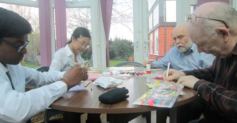 Work Experience Preparing Fathers Day Card With Residents