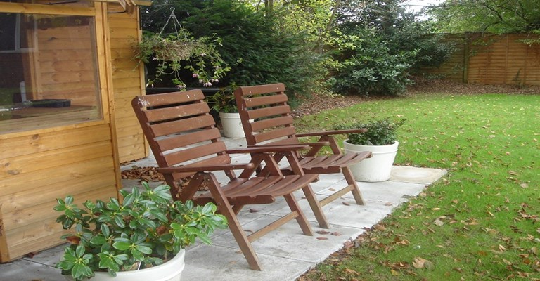 Deck chairs for residents to enjoy in the warmer months