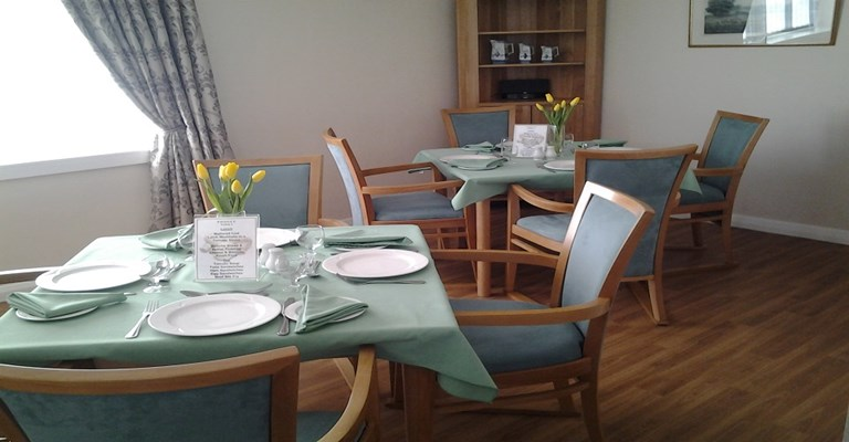 Enjoy your meals in our communal dining room