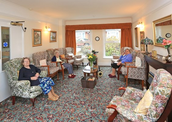 Residents enjoying time in the lounge