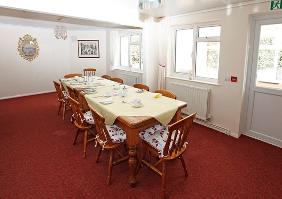 Enjoy delicious meals in the dining room