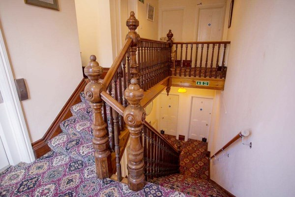 Grand staircase at Beamsley House