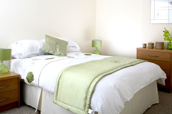 Green themed bedroom