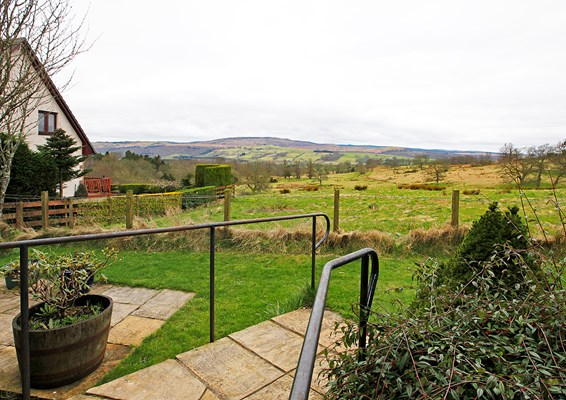 The views from the house overlooking the countryside