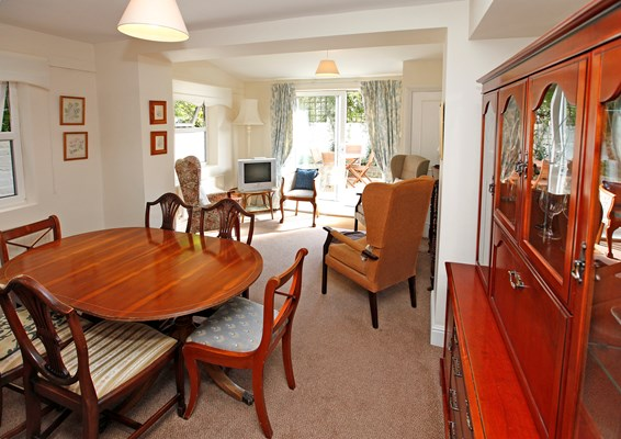 Open plan dining room and lounge where residents can socialise and enjoy meals together