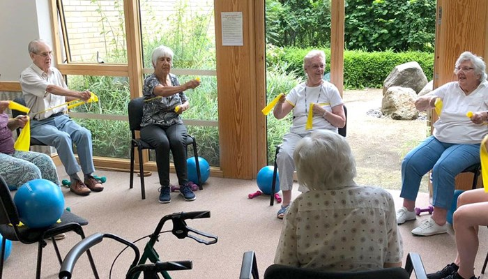 Keeping fit with seated exercise classes at Girton Green