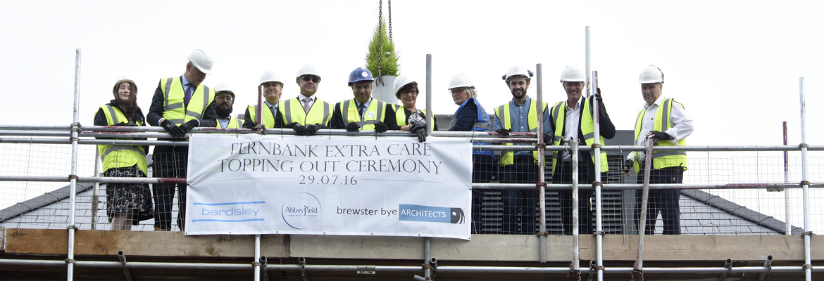 topping out at dementia care home in bingley