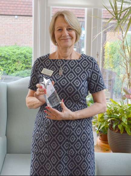 annette Gibbons with Caring UK Award