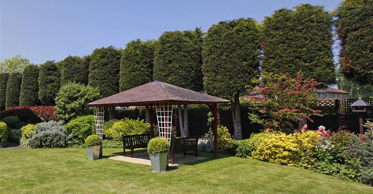 Our pergola is a great spot for residents to enjoy