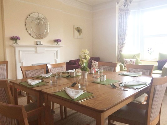 Enjoy homemade meals in the dining room