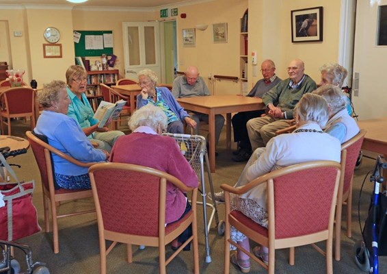 Residents enjoying an activity together