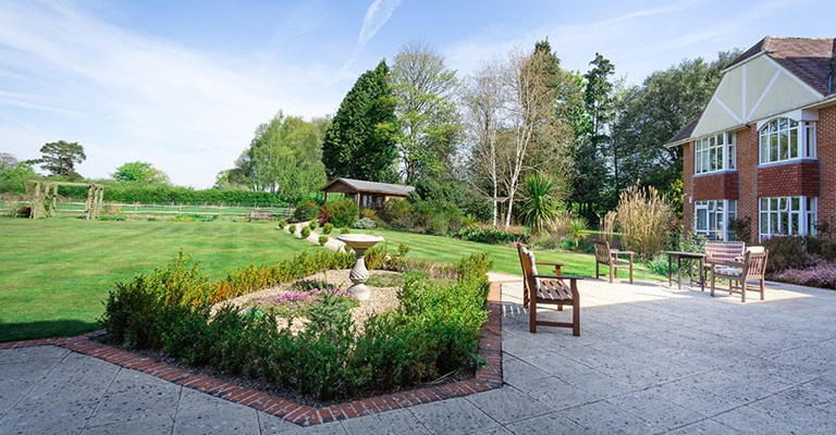 Large sunny garden grounds at Westall House where residents can enjoy a breath of fresh air