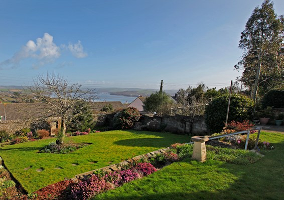 Our terraced garden boasts a beautiful view over the River Tamar
