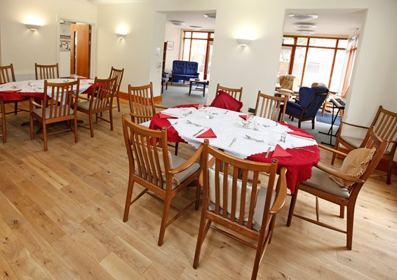 The communal dining room at Culver House where residents enjoy sharing meal times together
