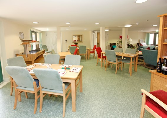 Communal dining room for residents