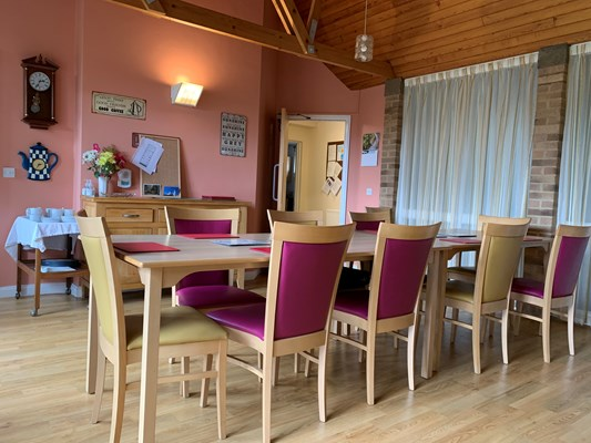 Communal dining room for residents to share mealtimes together