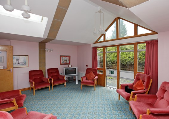 The lounge at Eleanor Hodson House