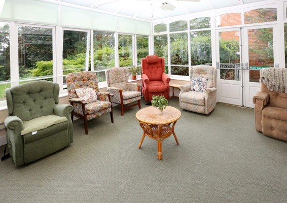 Sit back and relax in the conservatory