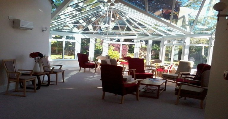 Sun lounge for residents to use at their leisure